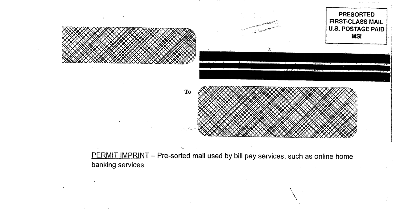 Permit Imprint example.